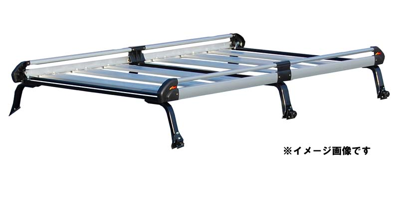 【代引き不可】TUFREQ タフレック 精興工業 Hシリーズ ダイハツ ハイゼットカーゴ S32#V.S33#V ハイルーフ H16/12~ ルーフキャリア[6本脚タイプ] HH236C