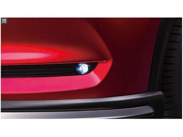 純正アクセサリー マツダ CX-5 KF H28.11~ イルミネーション LEDフォグランプ リアフォグランプ付車用 灯体+ベゼル K123V4600