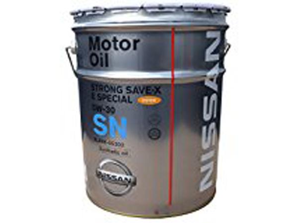 9 10限定P5倍 NISSAN 日産純正 エンジンオイル 年末年始大決算 ストロングセーブX Eスペシャル 5W-30 化学合成油 お求めやすく価格改定 SN 20L KLAN6-05302
