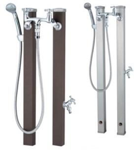 ユニソンスプレスタンド 60混合栓セットサイズ:幅264×高さ800(1,100)×奥行160mm重 量:7.4kg付属品:2ハンドル混合栓、プレーンフォーセット、シャワーホース・フック材質:ステンレスメーカー直送のため代引決済はできません
