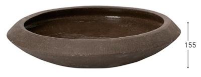 ユニソンプランターコントンポット ティアマト M 材 質:陶器サイズ:φ600×高さ155mm(内寸 φ490mm)重 量:17.0kg 土容量:19L※ 底穴なしメーカー直送のため代引決済はできません