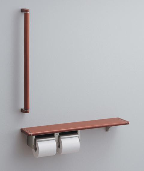 TOTO紙巻器一体型 天然木手すり62シリーズYHB62S(収納BOXなし)