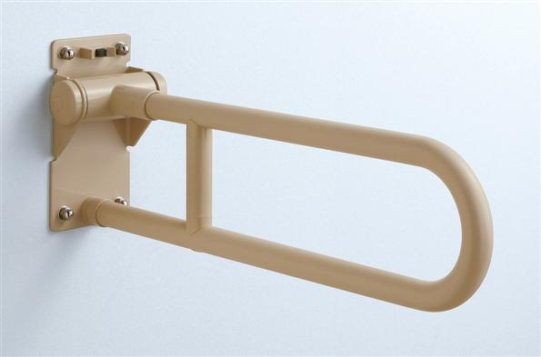 TOTO  腰掛便器用手すり(はね上げタイプロック無)樹脂被服タイプ T112H6 600ミリ受注生産商品(納期約2週間)