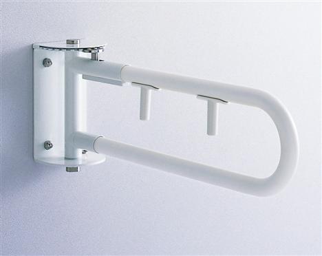 TOTO  腰掛便器用手すり(可動式)スイングタイプ(シングルレバー付)樹脂被服タイプ T112CSW7 700ミリ受注生産商品納期約2週間