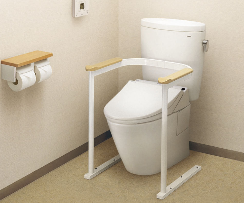 A-PLUS | Rakuten Global Market: Toilet handrail armrests, natural ...