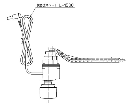 TOTO【TCA322】ウォシュレットアプリコット2019洗浄ユニット流すボタン組品1個同梱