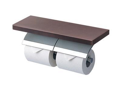 TOTO 棚付二連紙巻器 メッキタイプYH63BKS芯棒可動タイプ
