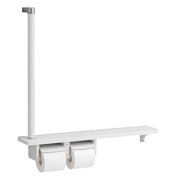 TOTOYHB63F木製手すり棚一体タイプサイズ:700W×772H(608+164)×120DR/L兼用ワンハンドカットフロントワンタッチ紙切板ロック