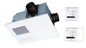 TOTOTYB4013GC集合住宅向浴室換気暖房乾燥機3室換気タイプ(浴室+トイレ+洗面所)照明スイッチ枠付リモコン100V*画像はTYB4013GA