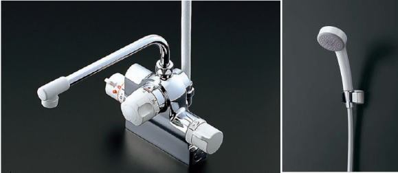 TOTOTMJ48Eサーモスタットシャワー定量止水水栓エアイン樹脂シャワー(クリックなし)スパウト長さ260mm
