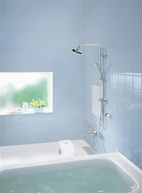 TOTO thermostatic shower ing existing shower installation type エアインシャワーバー on