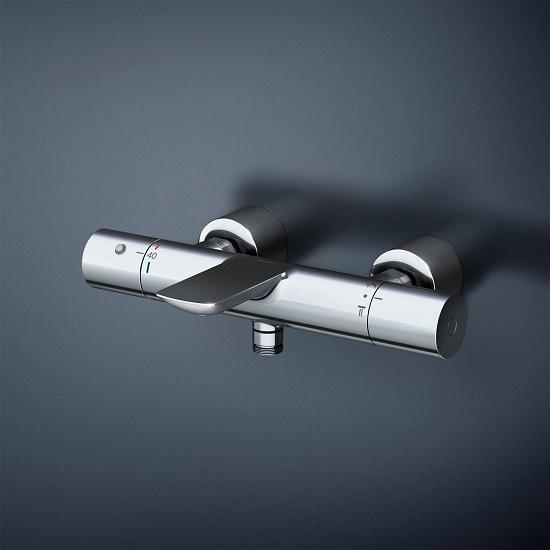 TOTO壁付サーモスタット混合水栓本体【TBV01405J】ストレート脚芯心150ミリ*注:ご確認ください。*水栓本体のみ