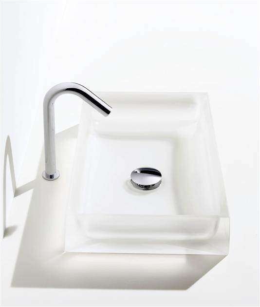 TOTOベッセル式クリスタルボウル洗面器水栓取付穴タイプ'Mタイプ'MR710受注生産品:納期1週間洗面器のみの販売になります