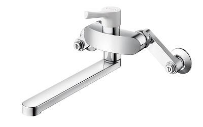 TOTOTKS05312J壁付キッチン水栓GGシリーズ樹脂ハンドル寒冷地共用先端切り替えなし