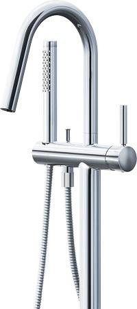XSITE床立ち上げ式シャワーバスBFHS131SLカラー:ニッケルクロムメッキ