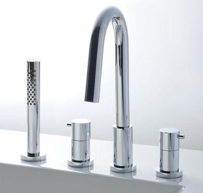 XSITEシャワーバス水栓デッキタイプBF-HS614HLカラー:ニッケルクロムメッキ