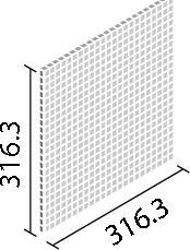 LIXIL ガラスモザイク フロストミックス【IM-12P1/FOT1~FOT5】 目地共寸法:316.3×316.3ミリ厚さ:6.2ミリあたり枚数:10.2シート/平米価格は1ケース(10シート)配送:メーカー工場からの直送