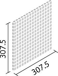LIXIL ガラスモザイク ルグラス【IM-20P1/LGS1~LGS4】 目地共寸法:307.5×307.5ミリ厚さ:5ミリあたり枚数:10.9シート/平米価格は1ケース(5シート)配送:メーカー工場からの直送