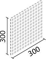 LIXIL ガラスモザイク ルキアグラス【IM-25P1/LUC1~LUC4】 目地共寸法:300×300ミリ厚さ:8ミリあたり枚数:11.5シート/平米価格は1ケース(11シート)配送:メーカー工場からの直送