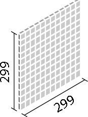 LIXIL ガラスモザイク ジェムス【IM-25P1/GEM1~GEM4】 目地共寸法:299×299ミリ厚さ:6.5ミリあたり枚数:11.5シート/平米価格は1ケース(5シート)配送:メーカー工場からの直送
