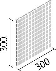 LIXIL ガラスモザイク ピッキ【IM-25P1/PK1】 目地共寸法:300×300ミリ厚さ:4ミリあたり枚数:11.5シート/平米価格は1ケース(20シート)配送:メーカー工場からの直送
