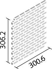 LIXIL ガラスモザイク ジャグズ【IM-4815P1/JAG1~JAG5】 目地共寸法:300.6×300.6ミリ厚さ:6.2ミリあたり枚数:11.1シート/平米価格は1ケース(11シート)配送:メーカー工場からの直送