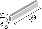 LIXIL ガラスモザイク ベトリーノ【VET-1015/1~15】 実寸法:99×15ミリ厚さ:8ミリあたり枚数:10枚/メートル価格は1ケース(50枚入り)配送:メーカー工場からの直送