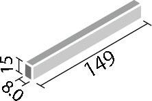 LIXIL ガラスモザイク ベトリーノ【VET-1515/1~15】 実寸法:149×15ミリ厚さ:8ミリあたり枚数:7枚/メートル価格は1ケース(50枚入り)配送:メーカー工場からの直送