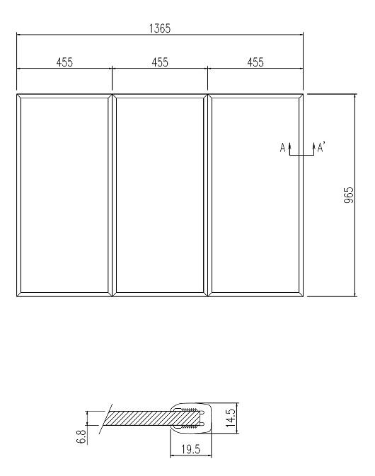 LIXIL風呂フタYFK-1410C(3)枚数:3枚寸法:965×455カラー:ホワイト