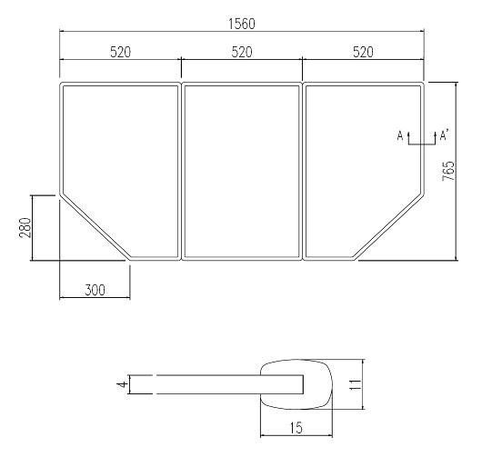 LIXIL風呂フタYFK-1677C(1)枚数:3枚寸法:765×520カラー:ホワイト
