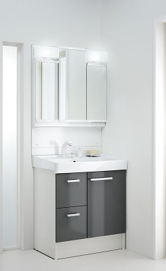 LIXILオフト洗面化粧台セット間口750ミリ選択項目の組合せにより価格が変わります価格及び画像はFTVH-755SY1-W(ハイグレード・洗髪シャワー水栓・引出タイプ)MFTV1-753TXJU(LED・3面鏡)メーカー直送のため代引決済はできません。
