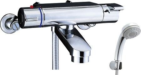 LIXILBF-2147TKSBサーモスタット付シャワーバス水栓エコフル多機能シャワー吐水口長さ75ミリ吐水口位置壁面より174ミリ