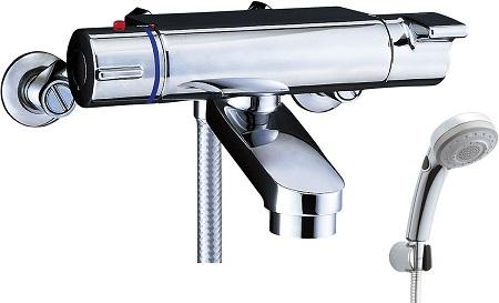 LIXILBF-2147TKSBWサーモスタット付シャワーバス水栓エコフルスイッチ多機能シャワー吐水口長さ75ミリ吐水口位置壁面より174ミリ