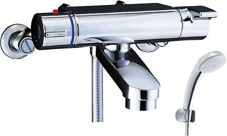 LIXILBF-2147TKSCサーモスタット付シャワーバス水栓エコフルスプレーシャワー(メッキ仕様)吐水口長さ75ミリ吐水口位置壁面より174ミリ