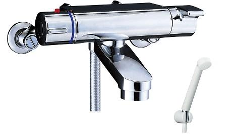 LIXILBF-2147TKSDサーモスタット付シャワーバス水栓エコフルスプレーシャワー吐水口長さ75ミリ吐水口位置壁面より174ミリ