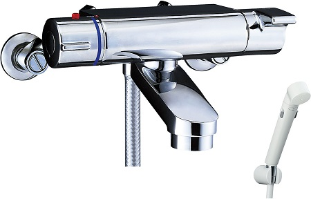 LIXILBF-2147TKSDWサーモスタット付シャワーバス水栓エコフルスイッチシャワー吐水口長さ75ミリ位置壁面より174ミリ