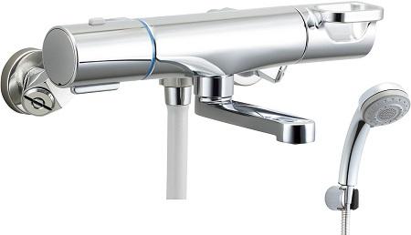 LIXILBF-WM147TSBクロマーレSサーモスタット付シャワーバス水栓エコフルスイッチシャワー(メッキ仕様)エコフル多機能シャワー吐水口長さ90ミリ