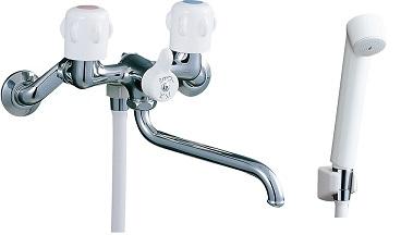 LIXILBF-K651(300)ハンドルシャワーバス水栓スプレーシャワー吐水口長さ300ミリ
