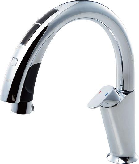 LIXILJF-NA411S(JW)キッチン用タッチレス水栓吐水口長さ232ミリ吐水口高さ155ミリ