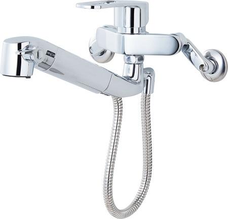 LIXILJF-AH437SY浄水器内蔵シングルレバー混合水栓呼び径13ミリホース引出長さ約55センチ吐水口長さ228ミリ