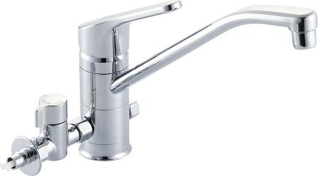 LIXILSF-HB420SYXBVシングルレバー混合水栓(分岐形)水栓取付穴φ37吐水口長さ260ミリ分岐口部接続ねじ:G1/2