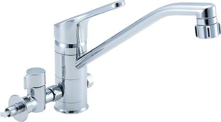 LIXILSF-HB442SYXBVキッチンシャワー付シングルレバー混合水栓(分岐形)水栓取付穴φ37吐水口長さ262ミリ分岐口部接続ねじ:G1/2