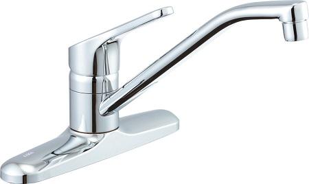 LIXILSF-HB431SYシングルレバー混合水栓水栓取付穴φ24(2ヶ)吐水口長さ260ミリ湯水芯々203ミリ*フレキホース仕様
