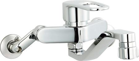 LIXILSF-WM433SYキッチンシャワー付シングルレバー混合水栓吐水口長さ220ミリ