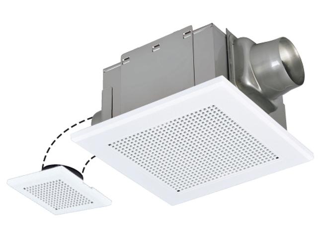 三菱電機天井埋込形 ダクト用換気扇 サニタリー用 風圧式シャッター付 VD-15ZFT10 二部屋換気用