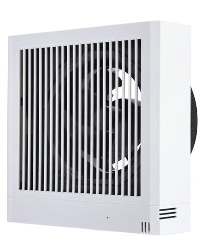 三菱電機パイプ用ファン 電気式シャッター居室  角形格子グリル接続パイプΦ100mm V-08PNSD7 雑ガスセンサー付