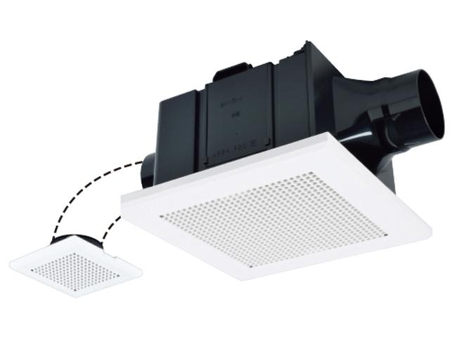 三菱電機ダクト用換気扇BL認定品 サニタリー用低騒音形接続パイプΦ100mm VD-15ZFPC10-BL 二部屋換気用