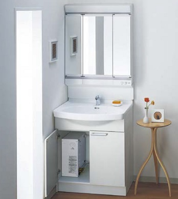 TOTO電気温水器付き洗面化粧台間口750ミリ価格及び画像はLDA756BYHSA(Aシリーズ/アクアオート)LMA752KCR(Aシリーズ/三面鏡)アクアオート・ホワイトメーカー直送のため代引決済はできません。