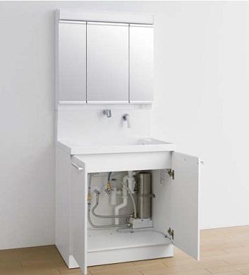 TOTO魔法びん即湯器付き洗面化粧台間口750ミリ価格及び画像はLDRC075BAGEN1A(オクターブ/エアインシャワー)LMRC075A3GAG1G(オクターブ/3面鏡)REQ02ASL5(即湯器)メーカー直送のため代引決済はできません