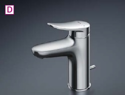 TOTO 洗面器用シングル水栓GOシリーズ【TLS04302JA】ワンプッシュ式水栓本体のみ